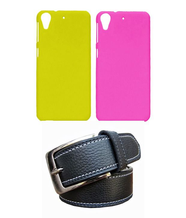 Winsome Deal Black Belt with 2 Back Cover Cases for HTC Desire 626