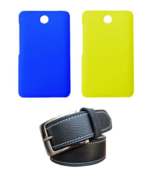 Winsome Deal Black Belt with 2 Back Cover Cases for Nokia Asha 501