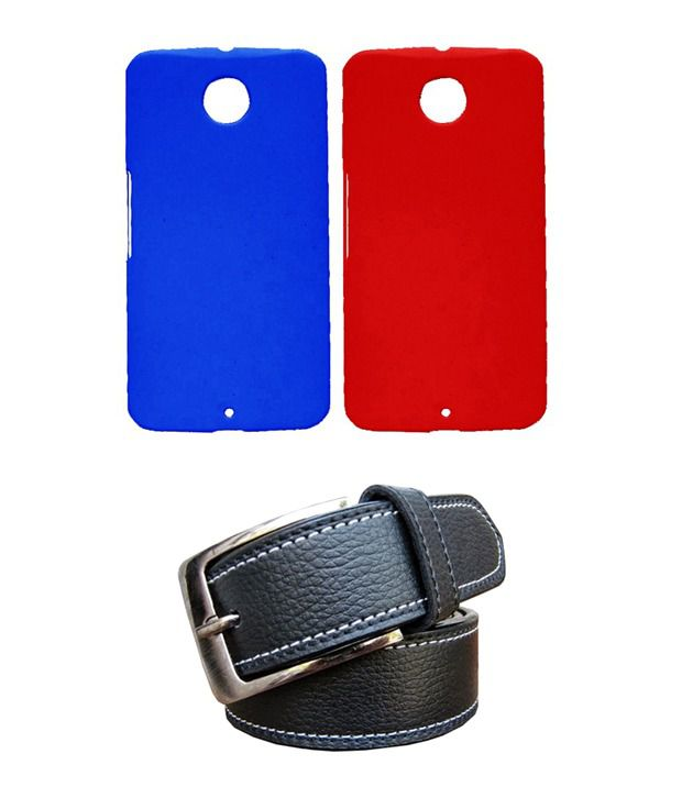 Winsome Deal Black Belt with 2 Back Cover Cases for Motorola Google Nexus 6