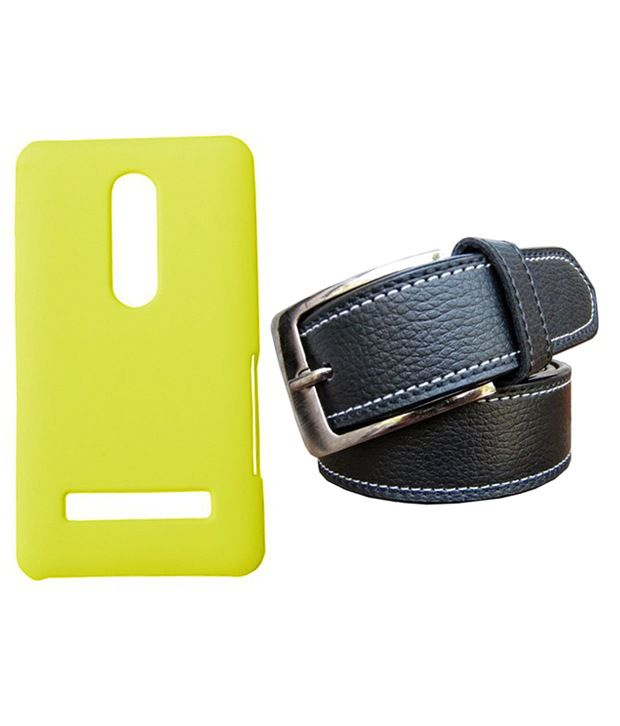 Winsome Deal Black Belt with Back Cover Case for Nokia Asha 210
