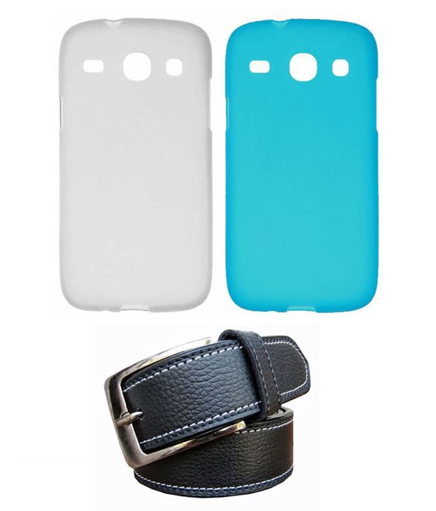 Winsome Deal Black Belt with 2 Back Cover Cases for Samsung Galaxy Core I8262