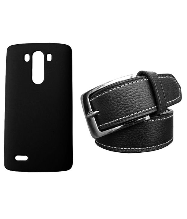Winsome Deal Black Belt with Back Cover Case for LG G3