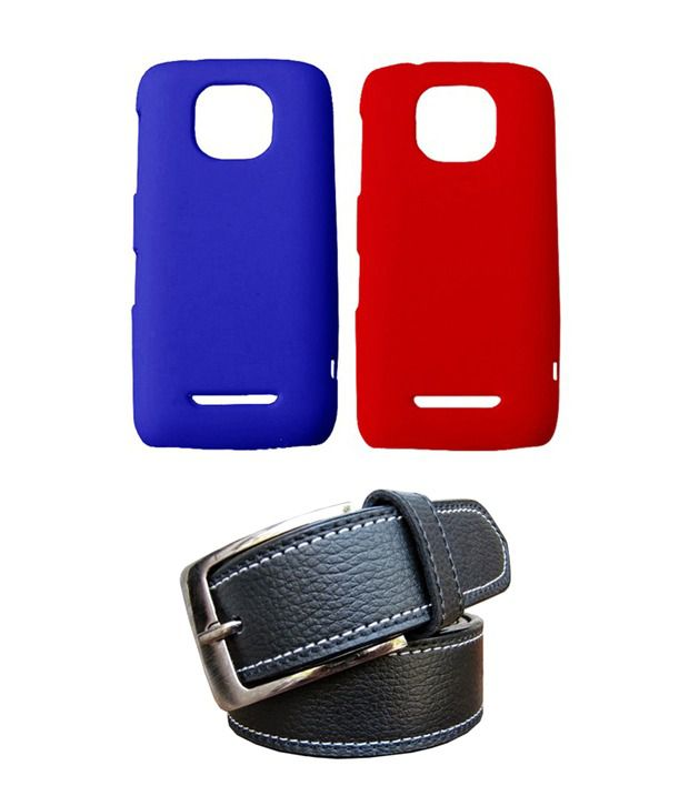 Winsome Deal Black Belt with 2 Back Cover Cases for Nokia Asha 311