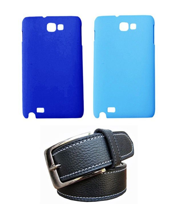 Winsome Deal Black Belt with 2 Back Cover Cases for Samsung Galaxy Note N7000