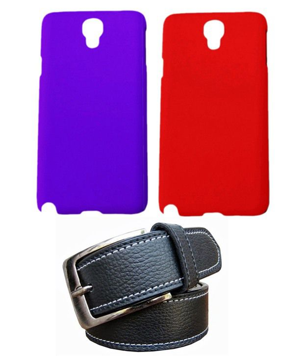 Winsome Deal Black Belt with 2 Back Cover Cases for Samsung Galaxy Note4 N9100