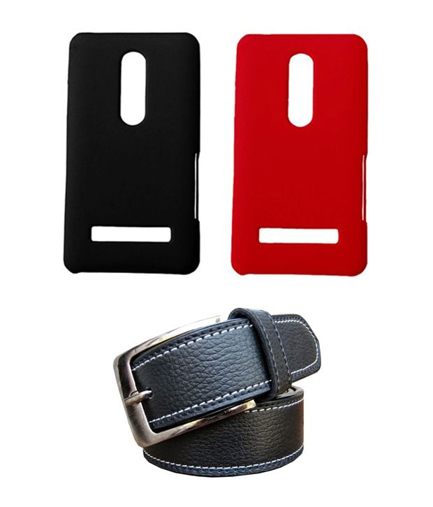 Winsome Deal Black Belt with 2 Back Cover Cases for Nokia Asha 210