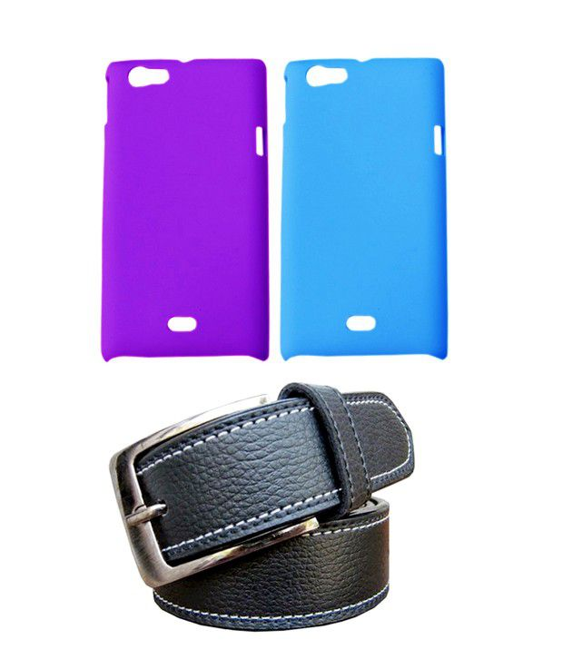 Winsome Deal Black Belt with 2 Back Cover Cases for Sony Xperia Miro ST23I