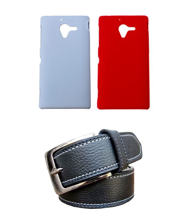 Winsome Deal Black Belt with 2 Back Cover Cases for Sony Xperia ZL