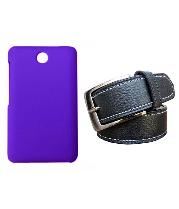 Winsome Deal Black Belt with Back Cover Case for Nokia Asha 501