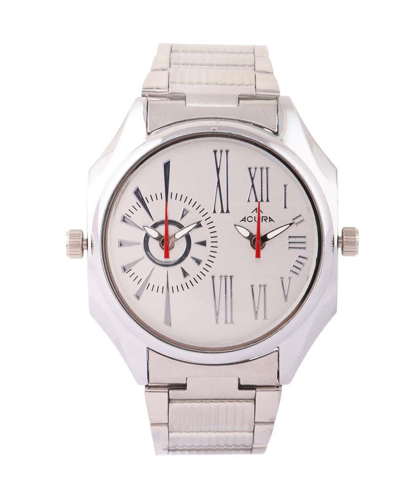 Acura Silver Analog Wrist Watch