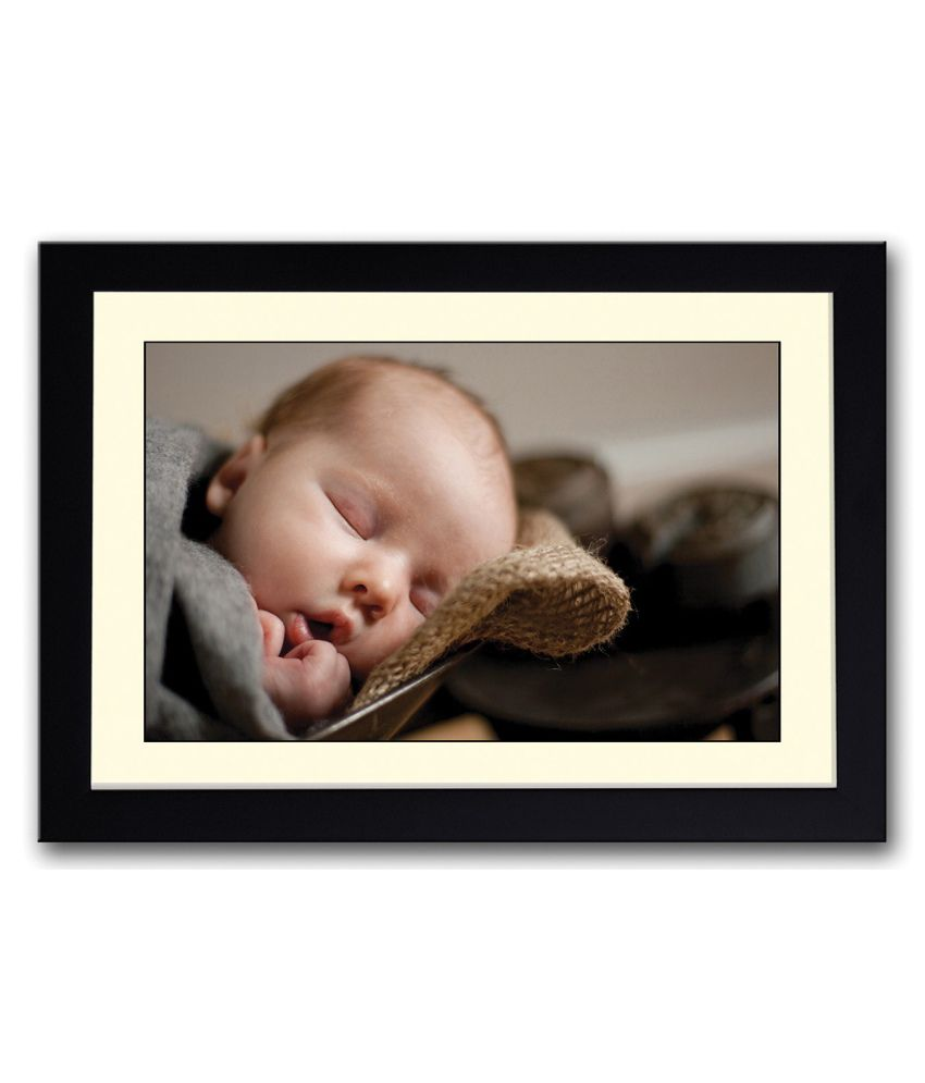 Artifa Matte Baby Sleeping Face Painting With Wood Frame