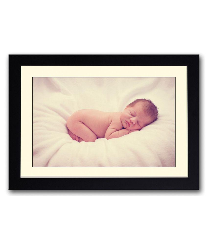 Artifa Matte Baby Sleeping Painting With Metal Frame