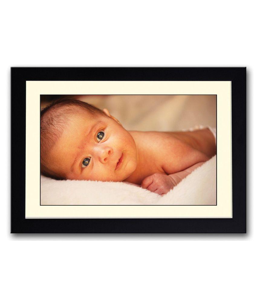 Artifa Matte Beautiful Eyes Baby Painting With Metal Frame