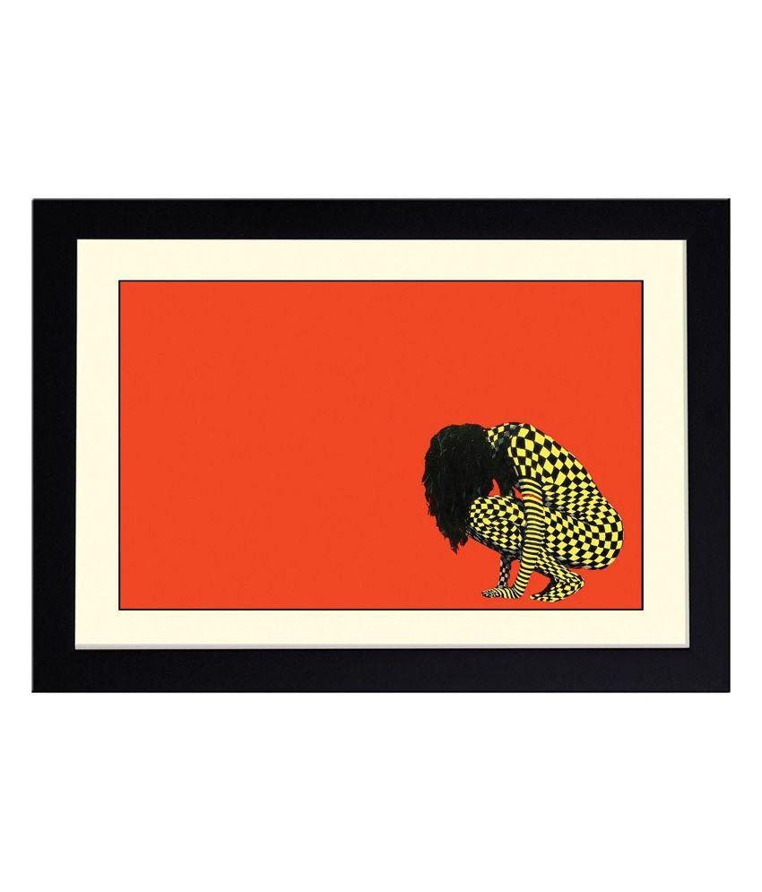 Artifa Multicolour Wooden Frame Poster
