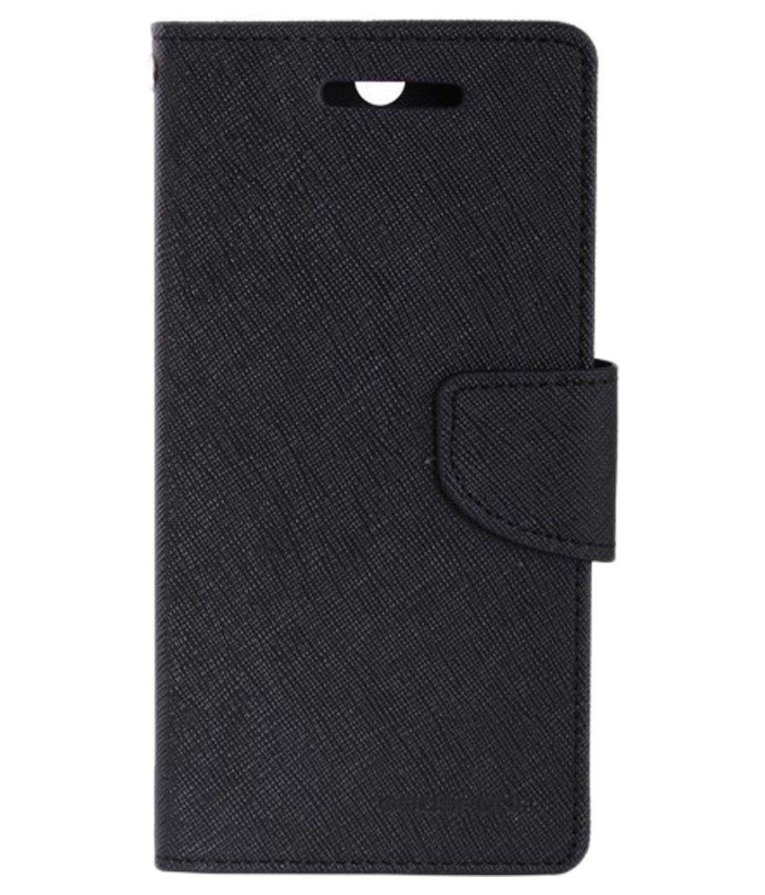 official photos cec91 e7978 Mercury Goospery Flip Cover For Sony Xperia M2 Dual - Black