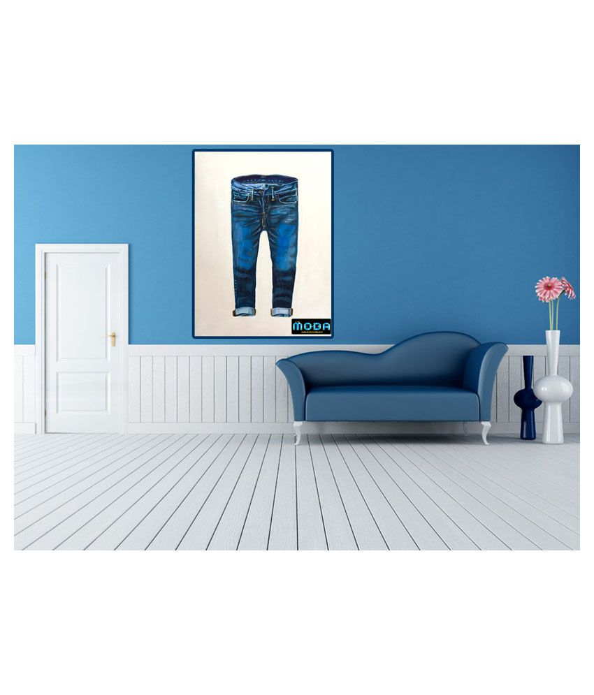 Studio Moda Blue Denim Genes Painting without Frame