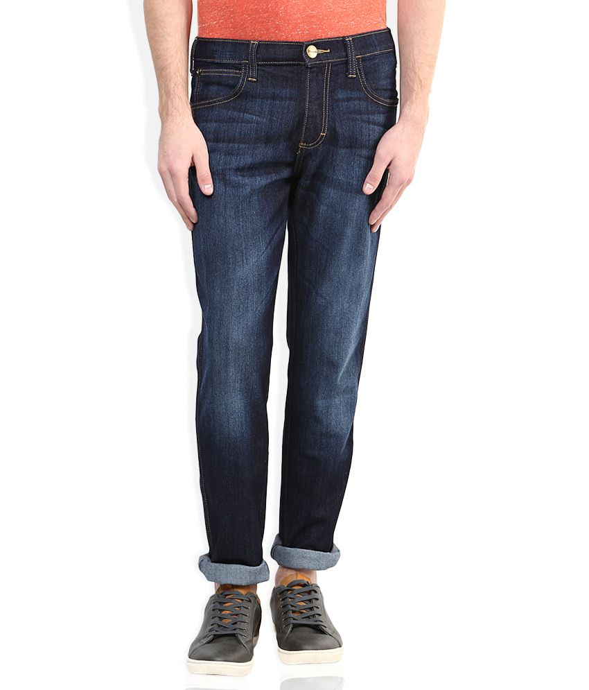 Wrangler Blue Regular Fit Jeans