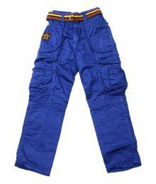 Kkp Kidsworld Blue Cotton Pach Work Jeans