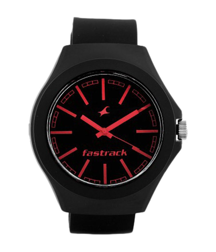 fastrack black dial analog watch 38004pp06 buy