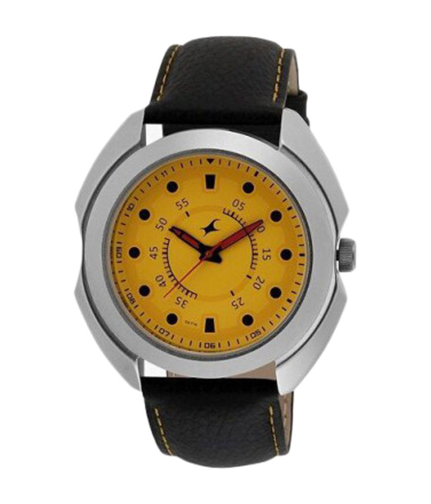 Fastrack Yellow Dial Watch for Men