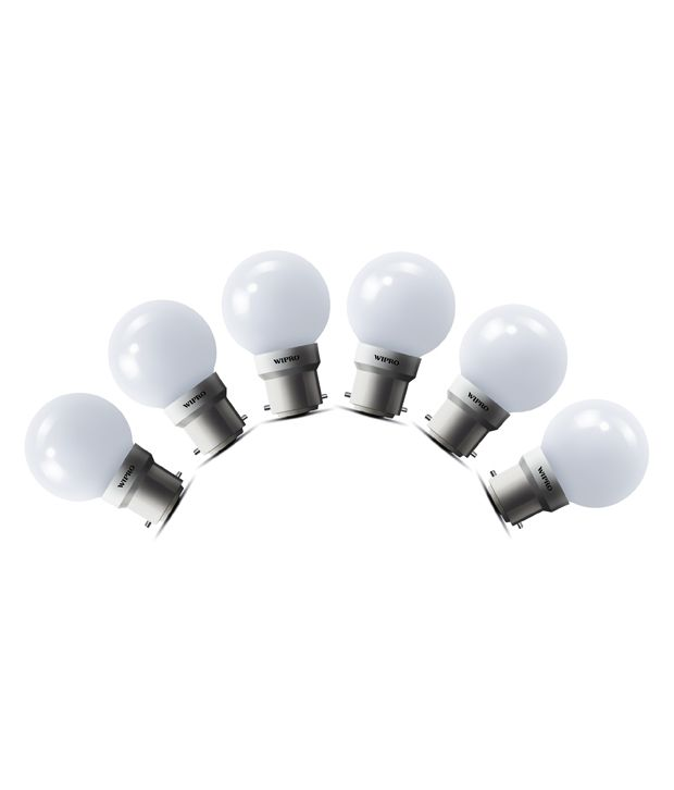 Snapdeal : Wipro 0.5W (Pack of 6) LED Deco Bulb @ Rs.199/-