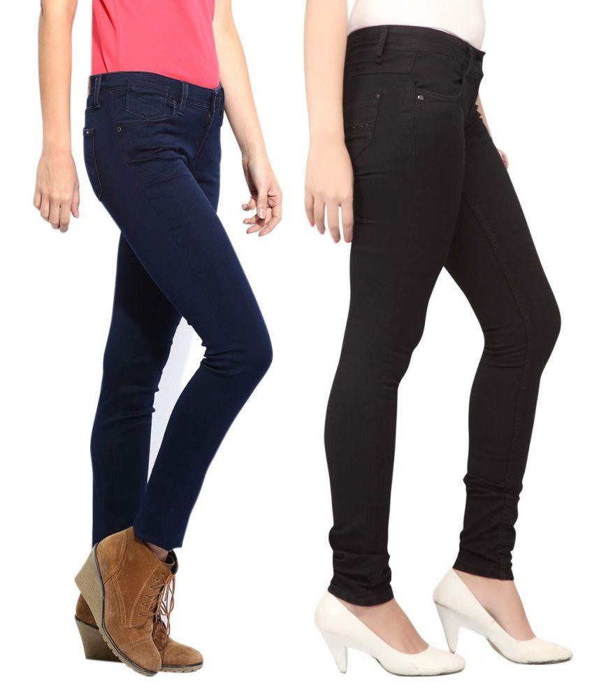 Ansh Fashion Wear Multi Denim Lycra Jeans