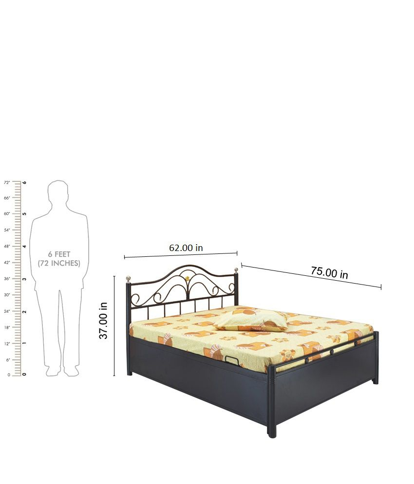 Queen bed size in feet Double bed dimensions