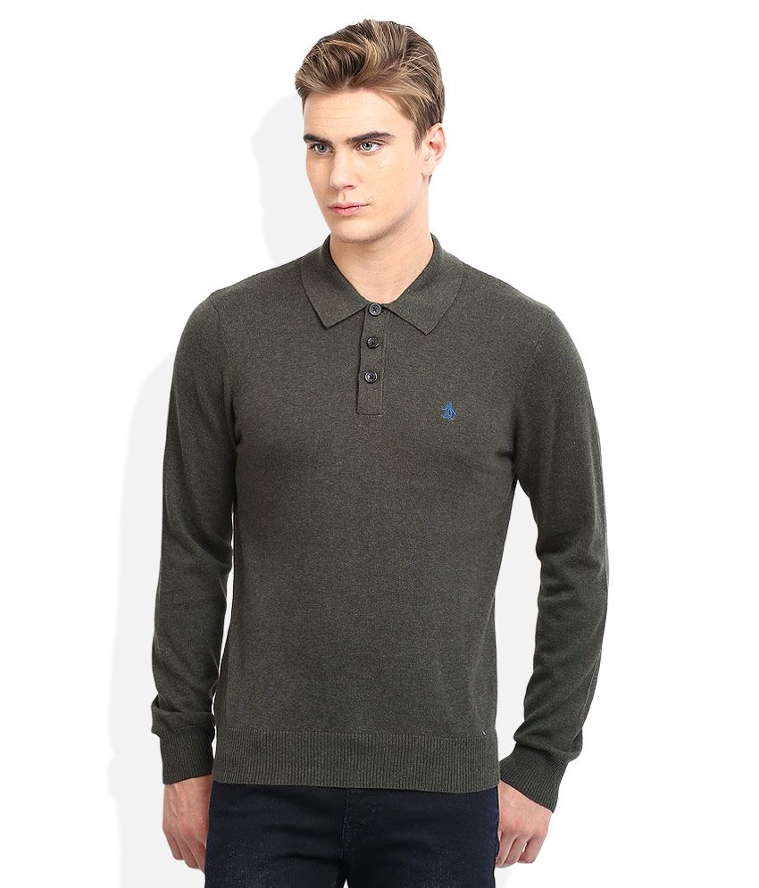 46800f134 Original Penguin Navy Blue Solid Polo T Shirt Price in India | Buy ...