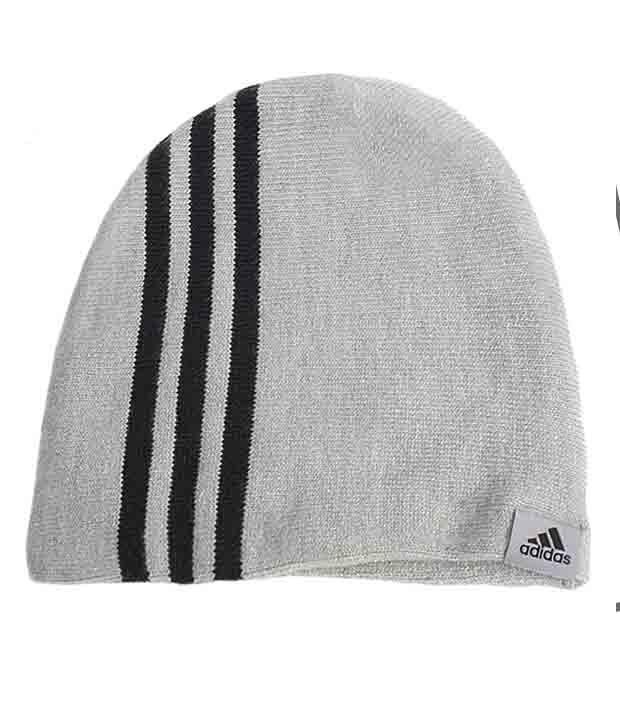 Adidas Gray Woollen Cap For Men - Buy Online   Rs.  c4a5c893bff