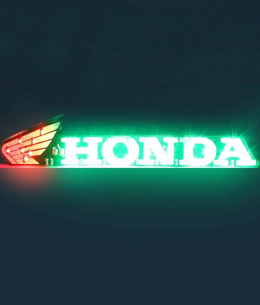 Honda motorcycles logo -  Motorcycle R J Von Honda Logo Led Light For Bikes Motorcycle