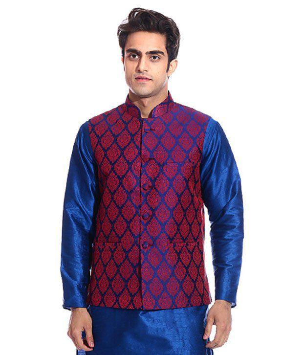 Tag 7 Blue Semi-Formal Nehru Jacket