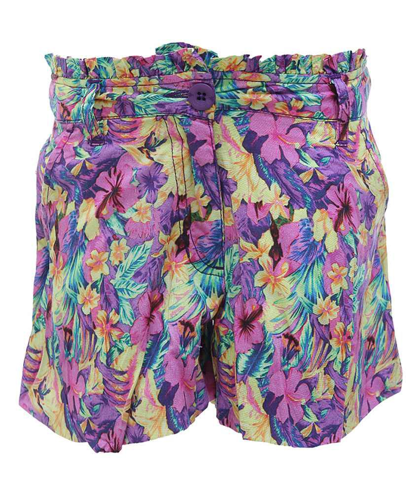 UFO Multicolor Cambric Casual Shorts