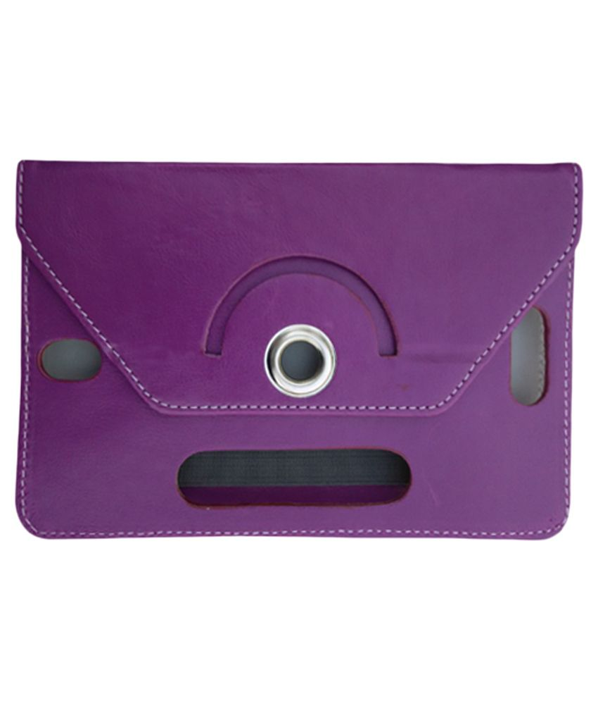 Fastway Rotate Tablet Book Cover For Acer Iconia W4 - 821 Tablet - Purple