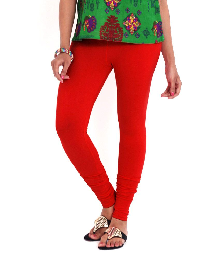95b2a26349befd Variety Silk House Red Cotton Leggings Price in India - Buy Variety Silk  House Red Cotton Leggings Online at Snapdeal