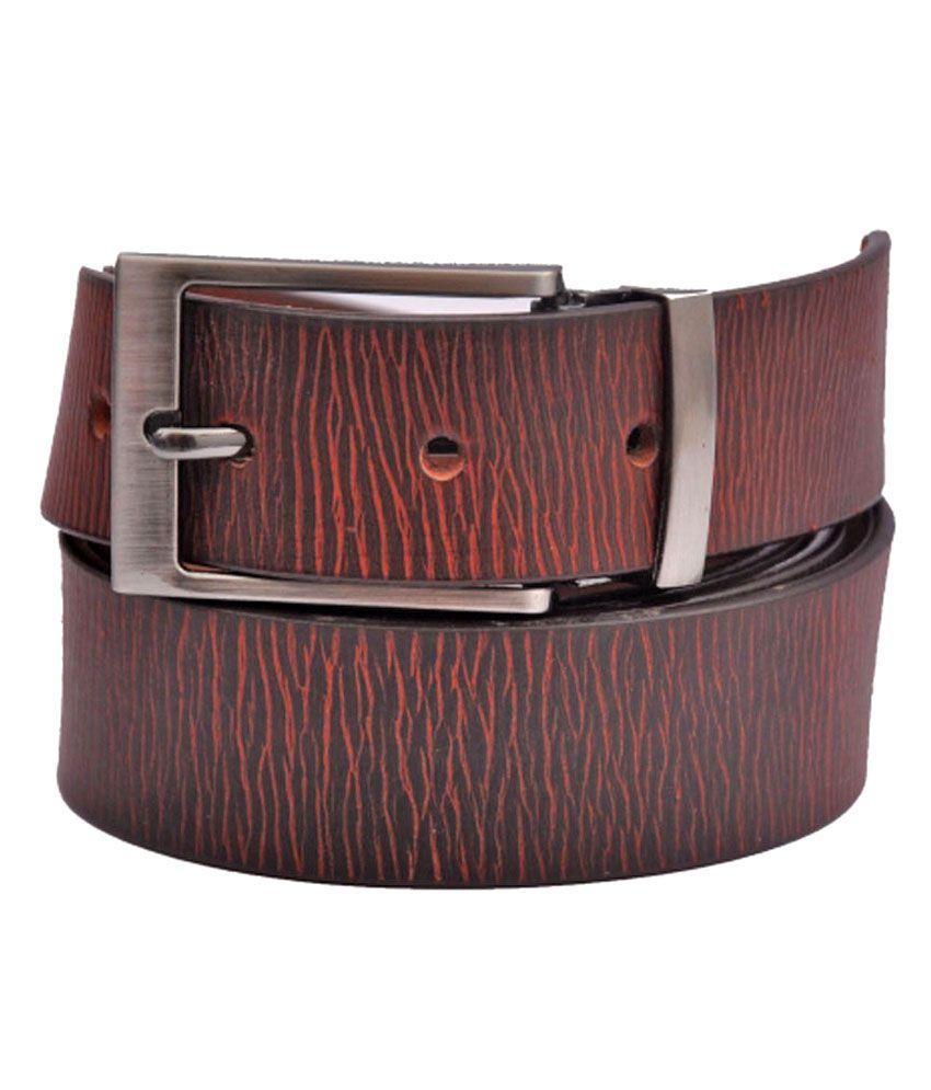 CowBoy Brown Leather Belt