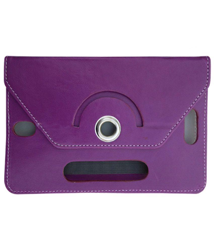Fastway Flip Cover For Alcatel Pixi 3 (7) LTE-Purple