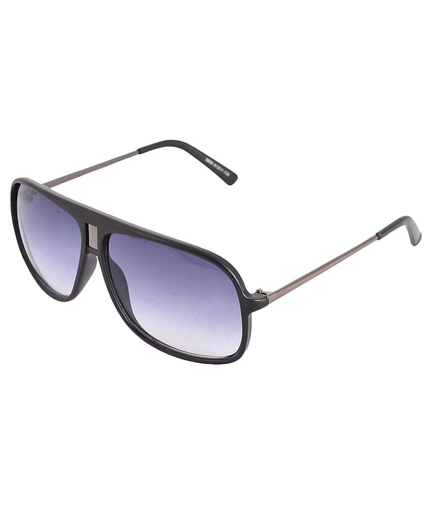 Red Knot Black Rectangle Non Metal Sunglasses