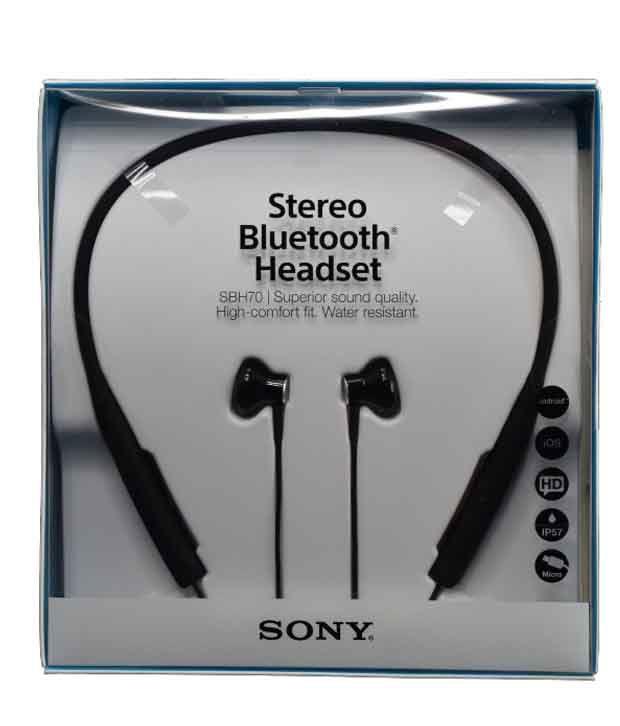 e0d9800be6d Sony SBH70 Stereo Bluetooth In Ear Headset - Black - Buy Sony SBH70 ...