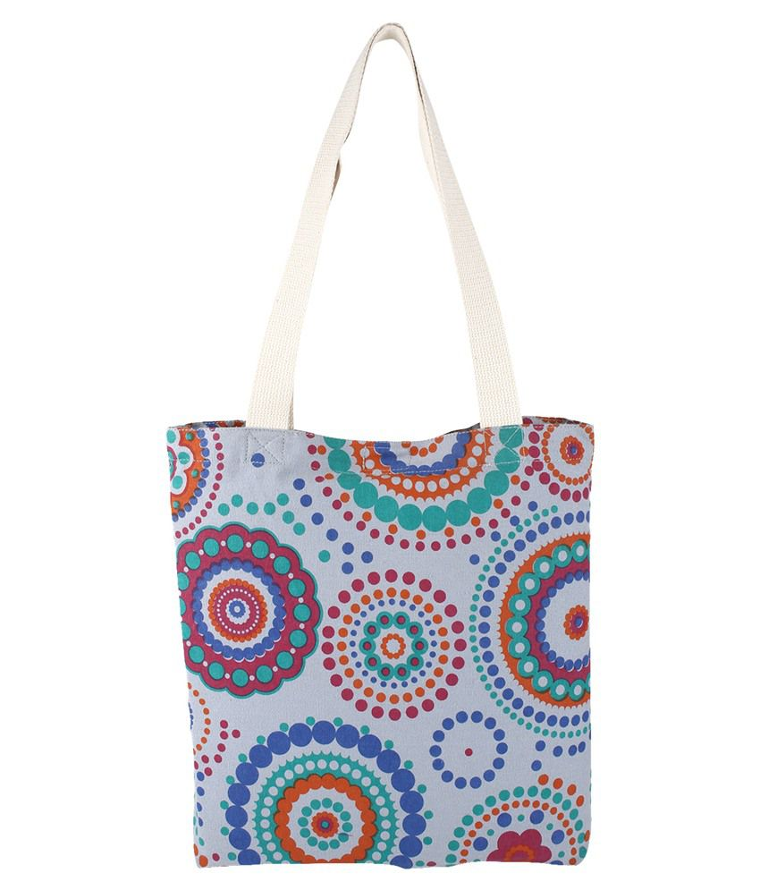 3a0caf3e77 Anekaant Gray Canvas Cloth Tote Bag - Buy Anekaant Gray Canvas Cloth Tote  Bag Online at Best Prices in India on Snapdeal