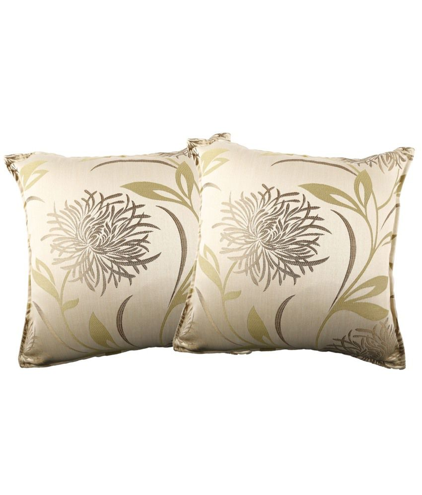 Just Linen Polyester Floral Cushion Covers Pack Of 2