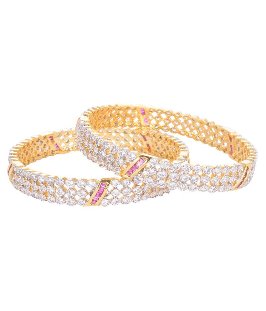 Pakira Gold Festive Bangle Set