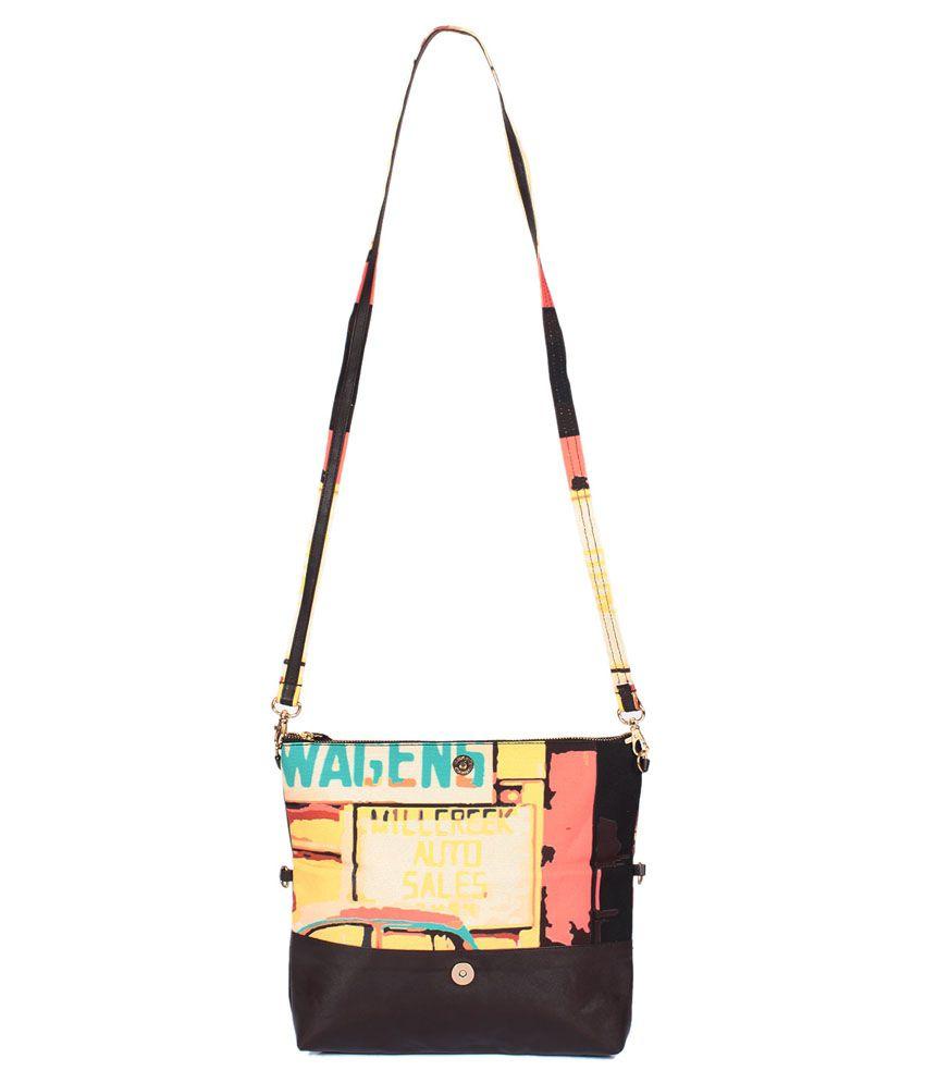 Snutch Canvas Cloth Sling Bag-Multicolour
