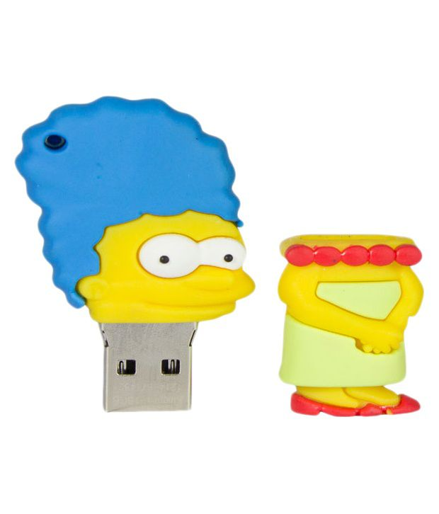 Zeztee Lisa Simpson 8 GB Pen Drives Multicolor