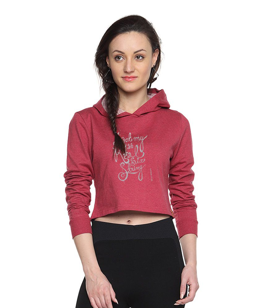 Campus Sutra Maroon Cotton - Fleece Non Zippered