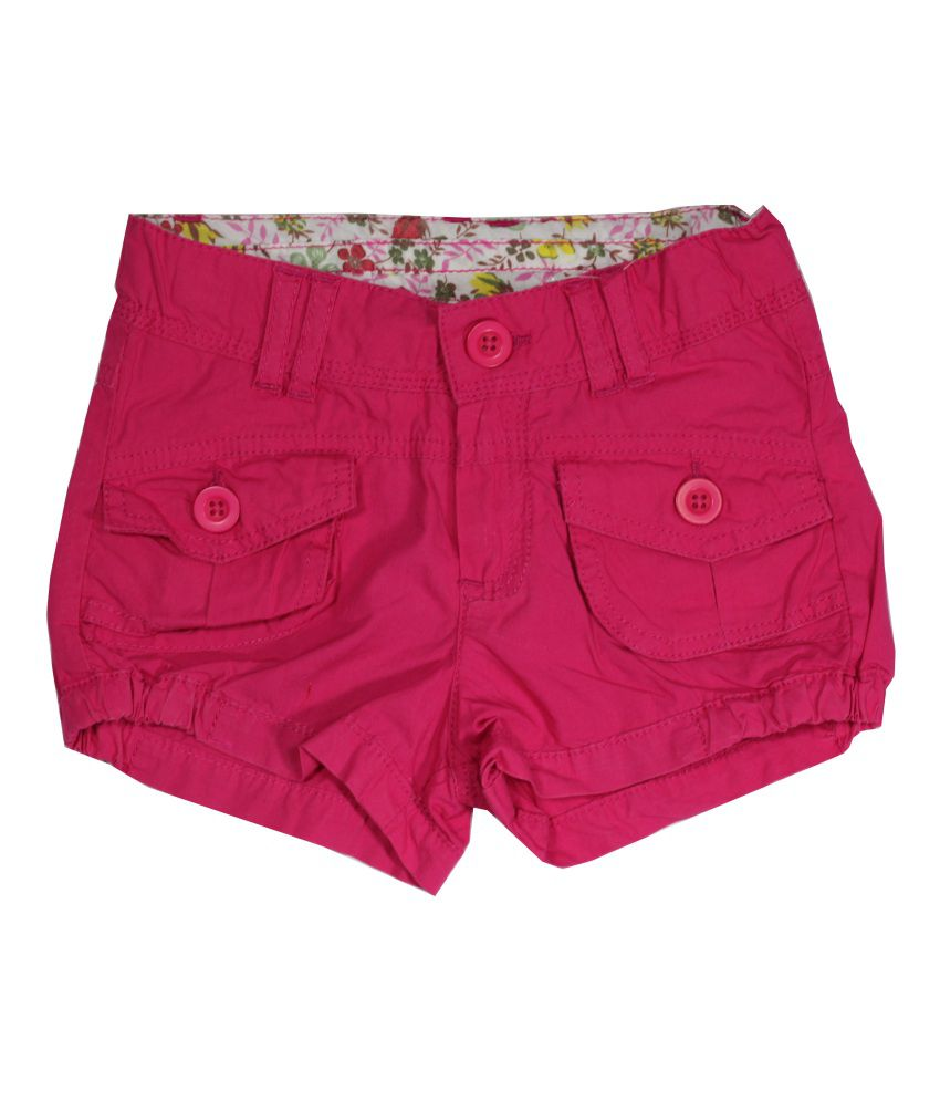 Little Flores Pink Short For Girls