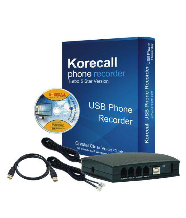 Korecall 2 Line USB Voice Logger Phone Recorder