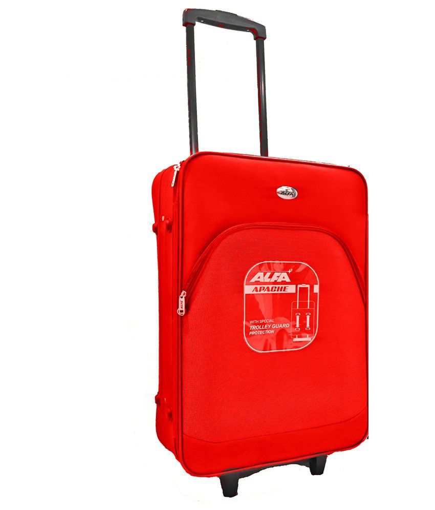 e9f08c50b Alfa Trolley Bag-Red - Buy Alfa Trolley Bag-Red Online at Low Price -  Snapdeal