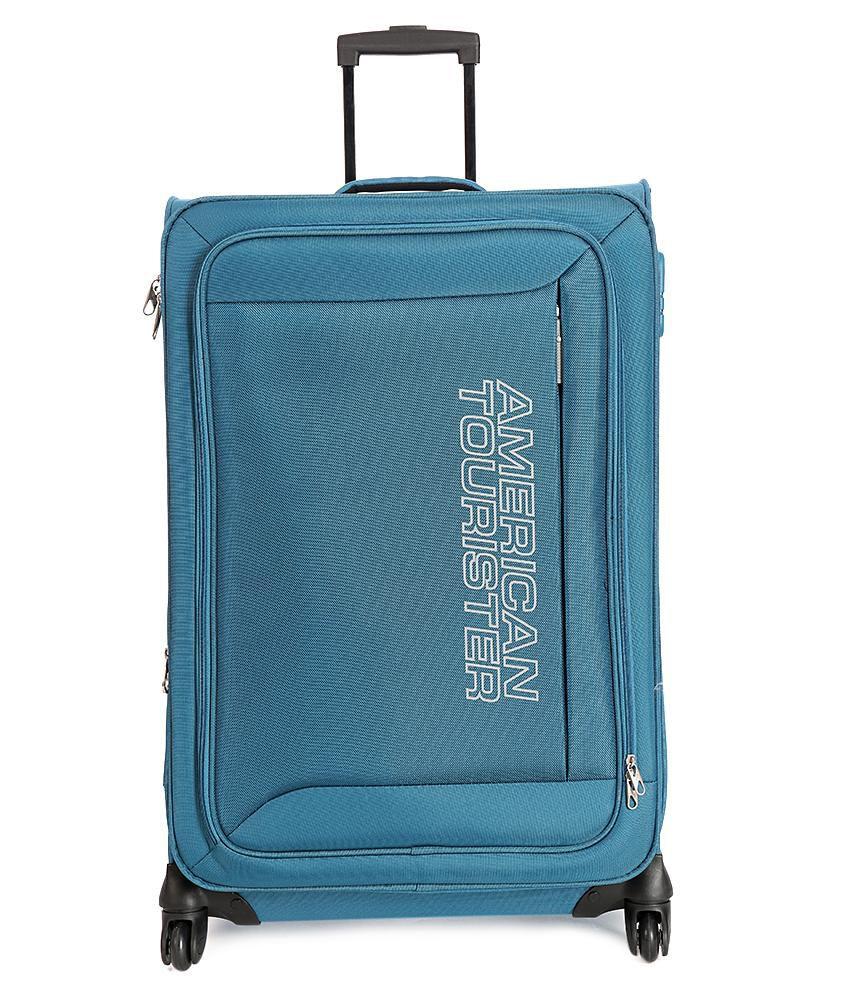 American Tourister Mocha Spinner 76cm Blue Strolley