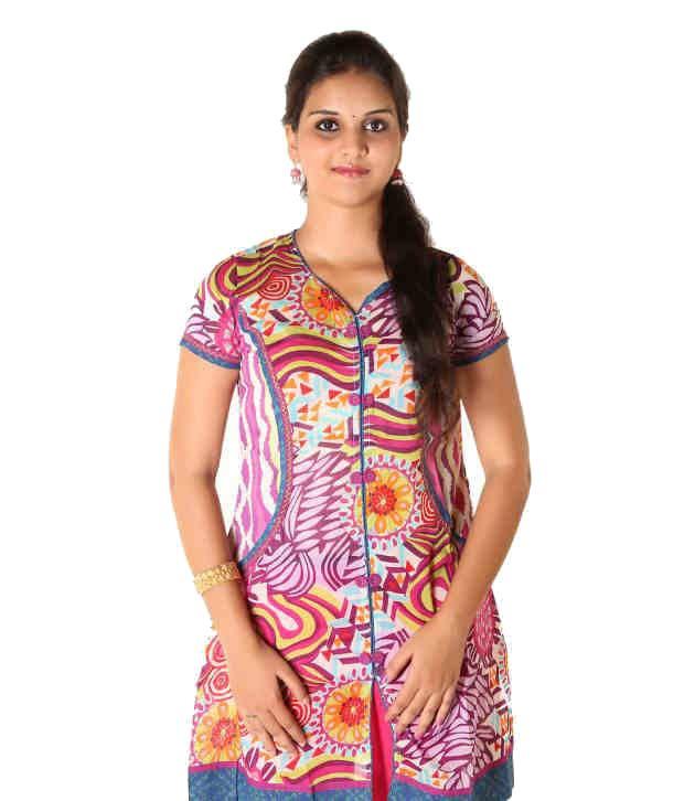 C U Clothing Multi Colour Cotton Kurti