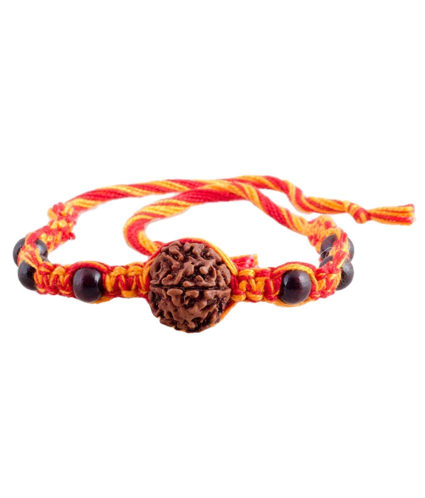 ellegent exports ellegent exports original rudraksh chandan black beads rakhi
